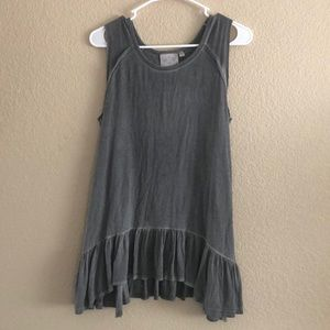 Dantelle grey top with fringe. Sz. M